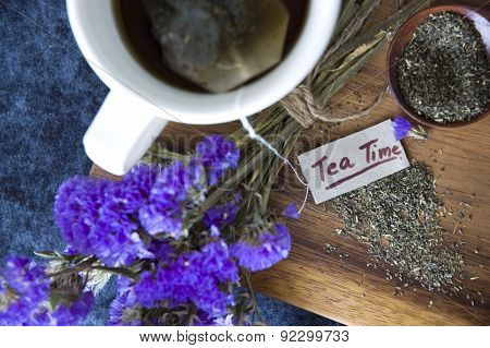 Top View Tea Time Tag