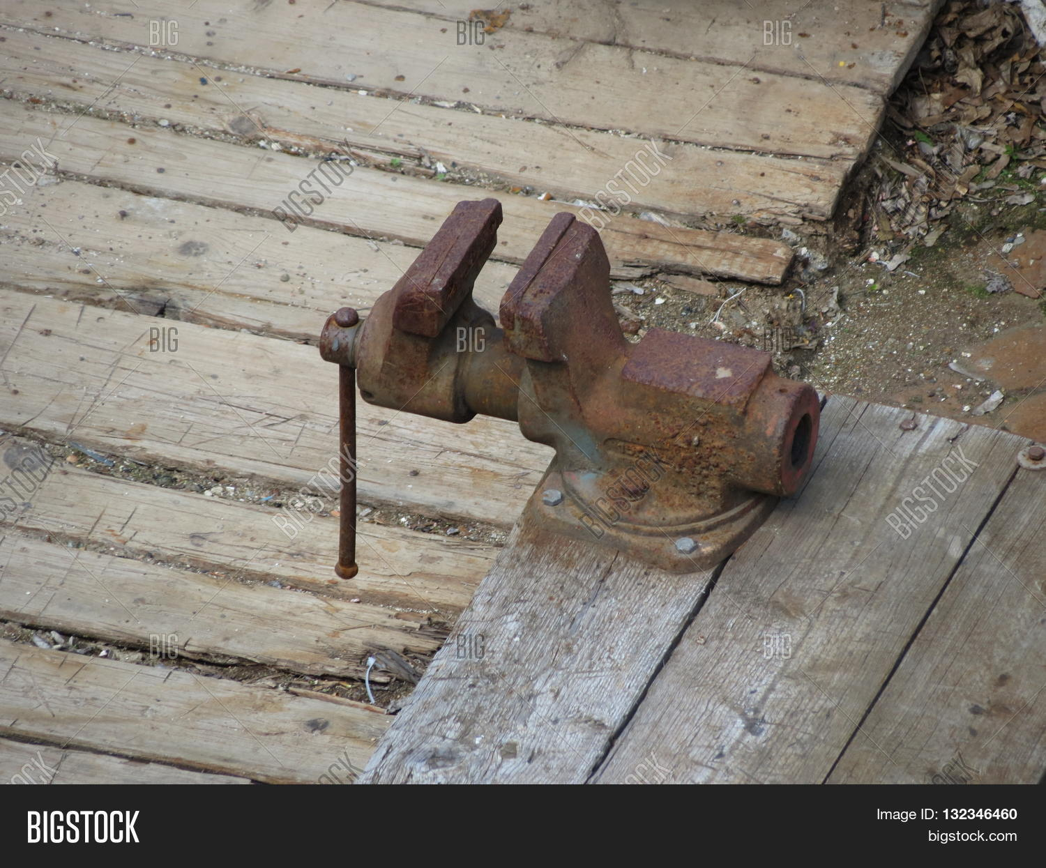 Forged Steel Bench Image Photo Free Trial Bigstock