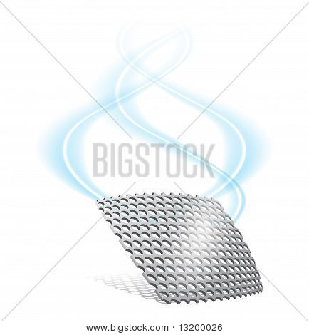 Metal Grille With Smoke