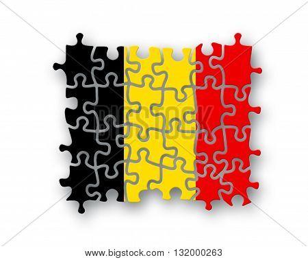 Belgium Flag Jigsaw