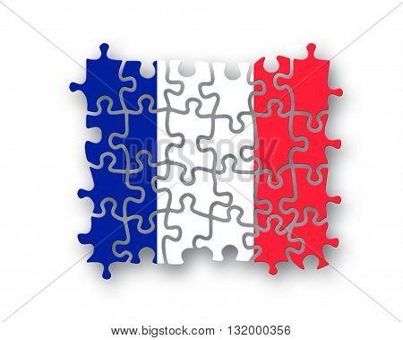 France Flag Jigsaw