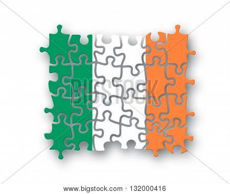 Ireland Flag Jigsaw