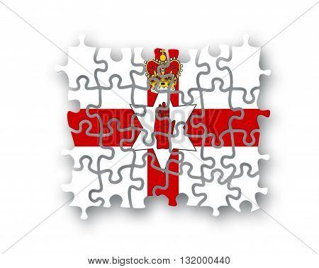 North Ireland Flag Jigsaw