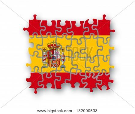 Spain Flag Jigsaw