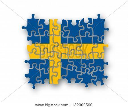 Sweden Flag Jigsaw