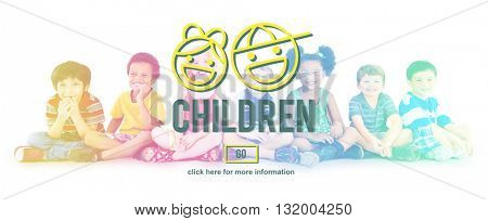 Children Childhood Kids Offspring Website Concept