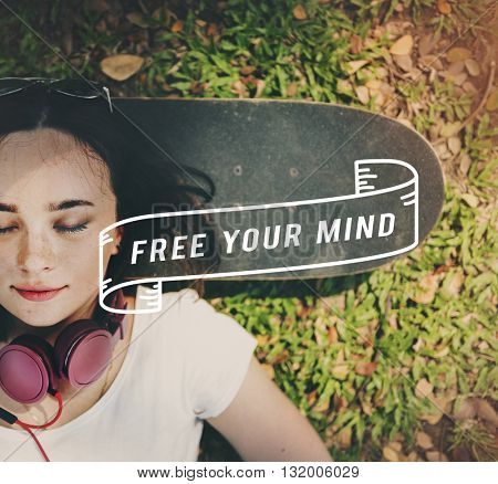 Free Your Mind Relax Energy Lazy Concept