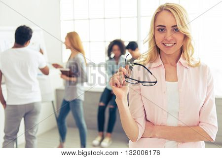 Young People Working
