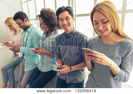 Young People With Gadgets