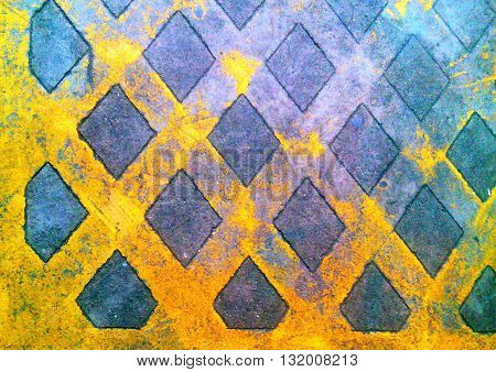 Yellow lines on concrete road on the street backgrounds