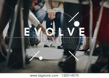Evolve Better Change Growth Innovation Theory Concept
