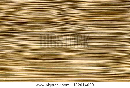 Closeup pile of brown envelope for document background