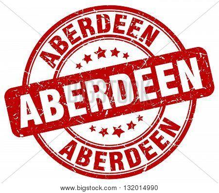 Aberdeen red grunge round vintage rubber stamp.Aberdeen stamp.Aberdeen round stamp.Aberdeen grunge stamp.Aberdeen.Aberdeen vintage stamp.