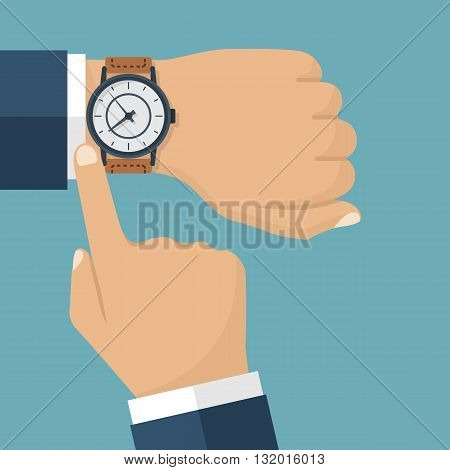 Wristwatch Hand Vector