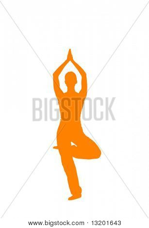 Йога поза векторные иллюстрации