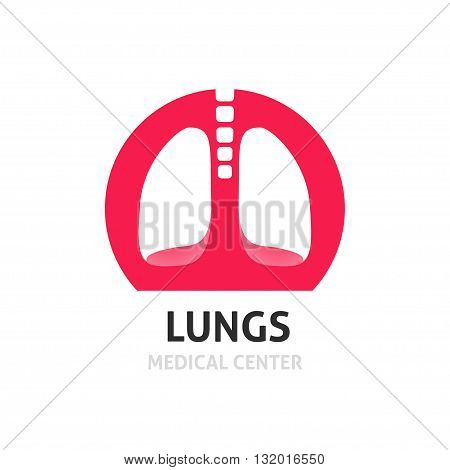 Lungs medical diagnostic center vector logo template lung clinic symbol lungs creative logotype flat icon modern emblem design sign illustration isolated on white background