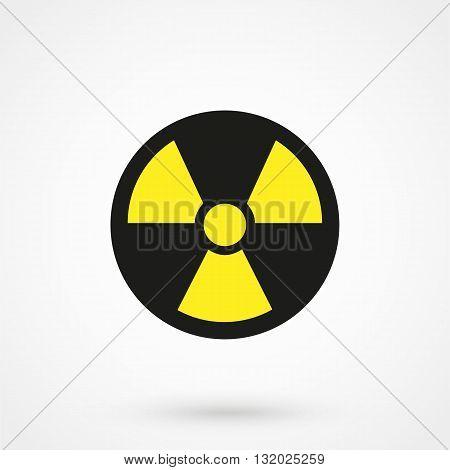 Radiation Danger Icon Vector Black On White Background