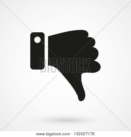 Dislike Icon Vector Black On White Background