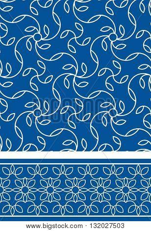 Arabic seamless patterns set. Pattern fills set. Oriental, arabic style. Mosaic seamless patterns set. Arabic ornaments set. Vector illustration.