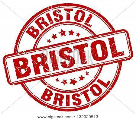 Bristol red grunge round vintage rubber stamp.Bristol stamp.Bristol round stamp.Bristol grunge stamp.Bristol.Bristol vintage stamp.