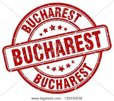 Bucharest red grunge round vintage rubber stamp.Bucharest stamp.Bucharest round stamp.Bucharest grunge stamp.Bucharest.Bucharest vintage stamp.