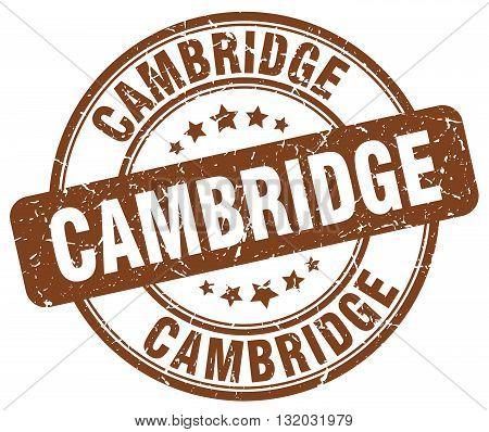 Cambridge brown grunge round vintage rubber stamp.Cambridge stamp.Cambridge round stamp.Cambridge grunge stamp.Cambridge.Cambridge vintage stamp.