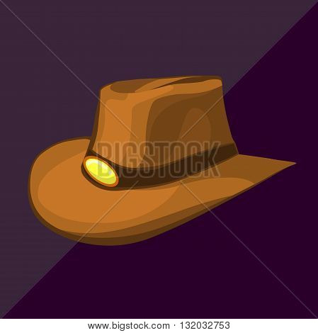 cowboy hat isometric cartoon western rancher country