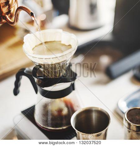 Drip Brew Coffee Caffeine Filter Flavor Mug Cup Concept
