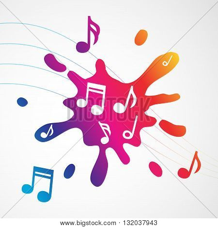 Music abstract colorful splash, vector illustration for Your design, eps10