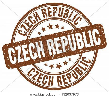 Czech Republic brown grunge round vintage rubber stamp.Czech Republic stamp.Czech Republic round stamp.Czech Republic grunge stamp.Czech Republic.Czech Republic vintage stamp.