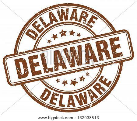 Delaware brown grunge round vintage rubber stamp.Delaware stamp.Delaware round stamp.Delaware grunge stamp.Delaware.Delaware vintage stamp.