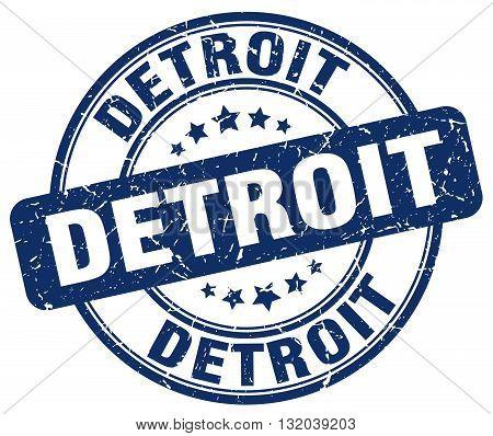 Detroit blue grunge round vintage rubber stamp.Detroit stamp.Detroit round stamp.Detroit grunge stamp.Detroit.Detroit vintage stamp.