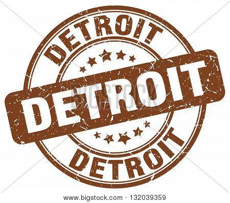 Detroit brown grunge round vintage rubber stamp.Detroit stamp.Detroit round stamp.Detroit grunge stamp.Detroit.Detroit vintage stamp.