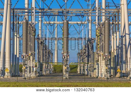 Modern High Voltage Power Substation