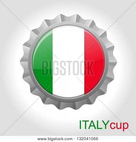 Italy flag cup