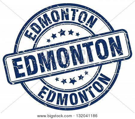 Edmonton blue grunge round vintage rubber stamp.Edmonton stamp.Edmonton round stamp.Edmonton grunge stamp.Edmonton.Edmonton vintage stamp.