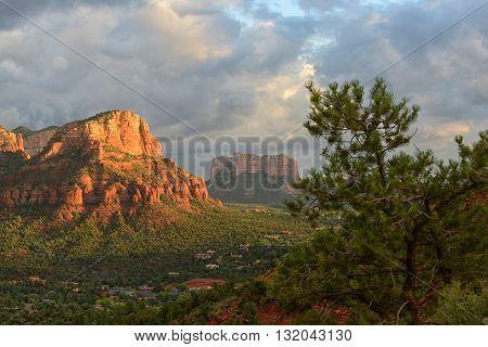 View from Airport Vortex in Sedona Arizona