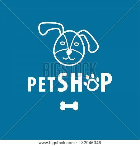 Dog shop background for on line business
