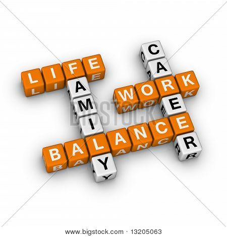 Work and Life Balance (3D crossword orange series) poster