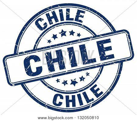 Chile blue grunge round vintage rubber stamp.Chile stamp.Chile round stamp.Chile grunge stamp.Chile.Chile vintage stamp.