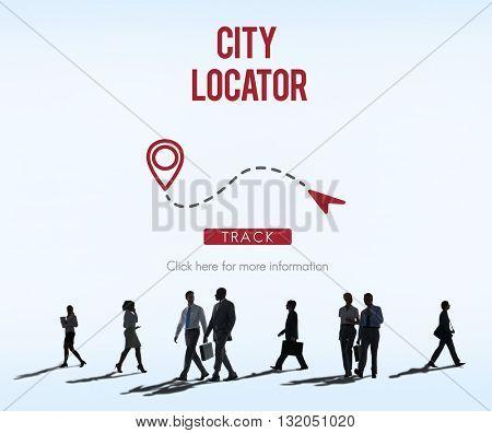 City Locator Direction Metropolis Population Concept