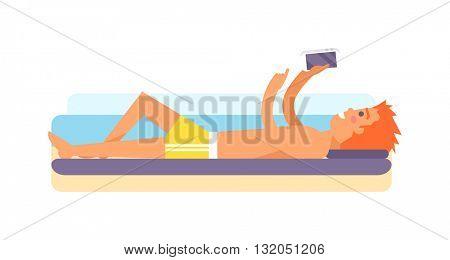 Holiday maker vector illustration.
