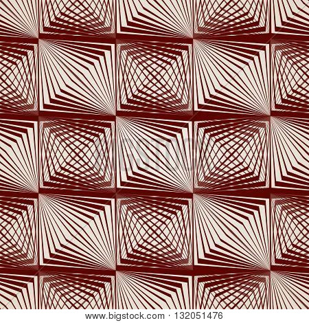 Abstract pattern of straight lines in brown