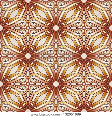 Seamless abstract floral pattern in beige color