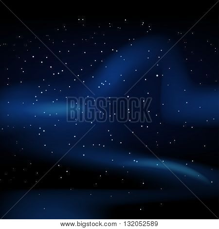 illustration of dark space with a lot of stars