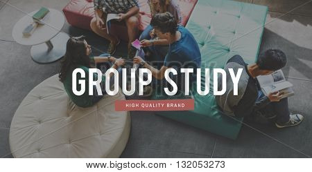Friends Friendship Group Study Library Concept