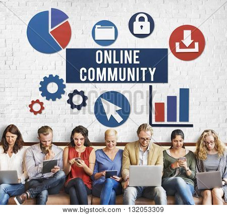 Online Community Connection Internet Concept