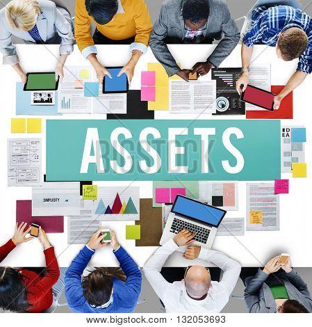 Assets Accounting Benefit Bonus Budget Value Concept
