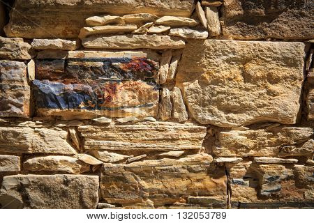 abstract background surface with stonework wall