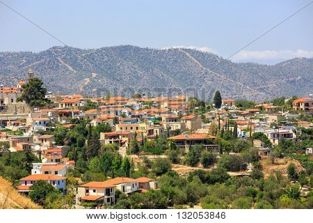 Mediterranean village in Cyprus mountains
